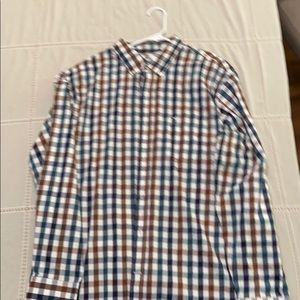 Multicolored checked dress shirts